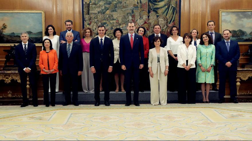 کابینه جدید اسپانیا؛ برای اولین بار اکثریت با زنان است
