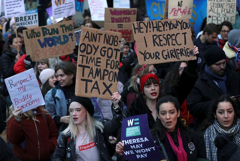 راهپیمایی سراسری زنان جهان برای برخورداری از حقوق برابر